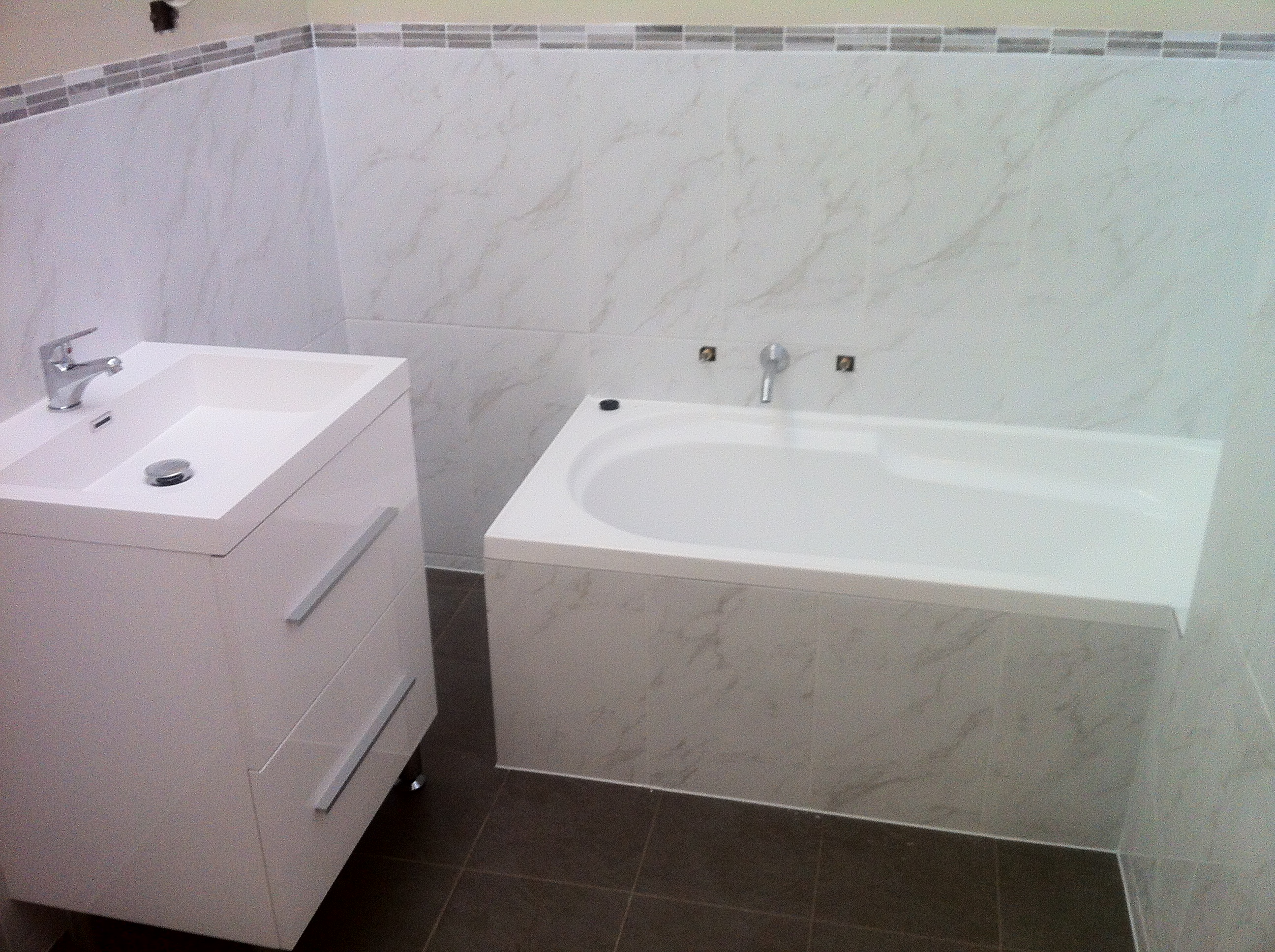 Bathroom Renovations Adelaide Reviews. Recently Completed Bathroom Renovation Great Contrast Of Colours And Mosaic Tile To Add A Feature To The Bathroom